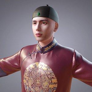 clothing qing dynasty 3D model