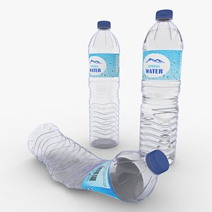 3D model Plastic Water Bottle Big