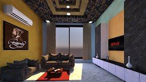 3D house architecture interior
