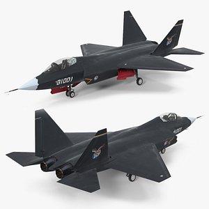 3D Shenyang FC 31 Multirole Jet Fighter Rigged