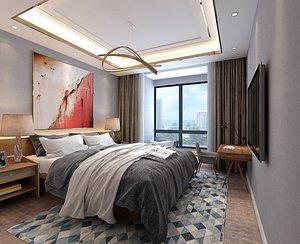 3D Postmodern bedroom bedroom advocate lie contracted the bedroom Luxurious bedroom European bedroom be model
