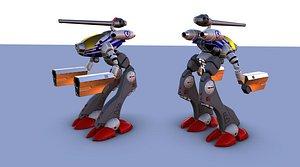 mecha rhino v7 3D model
