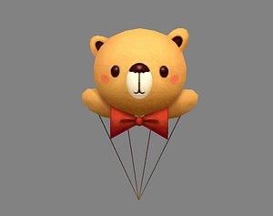 Cartoon Bear Balloon 3D model
