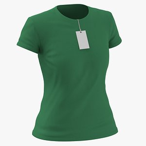 3D Female Crew Neck Worn With Tag Green
