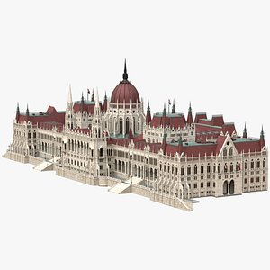 The Hungarian Parliament Building in Budapest. Gothic palace model