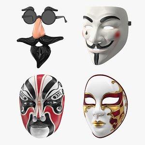 Face Masks Collection 3D
