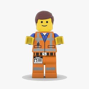Emmet Lego Man 3D model