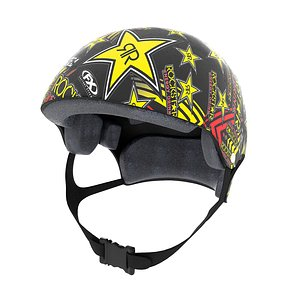 3D snowboard helmet
