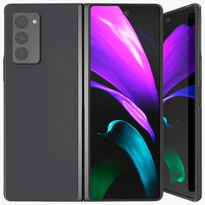 3D Samsung Z Fold 2 Black