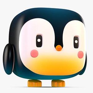 3D cute cartoon penguin