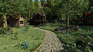 Village Scene model