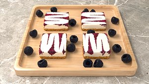 Blackberry cheese cake model