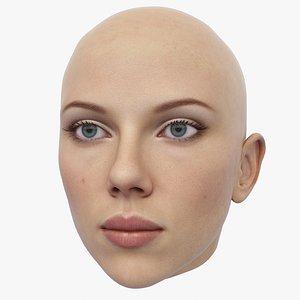 3D Scarlett Johansson Head model