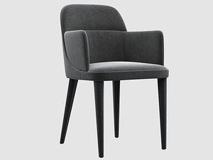jackie dining armchair gallotti 3D