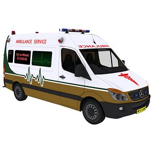 3D vehicle ambulance van