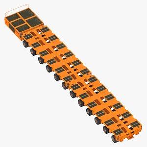12 axle lines modular 3D model
