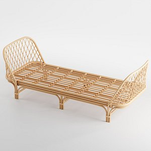 daybed rattan 3D model