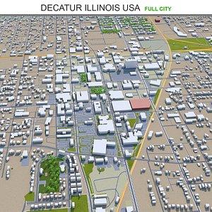 Decatur Illinois USA 3D model