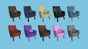 10 Colored Armchair Collection - Furniture Interior Design model