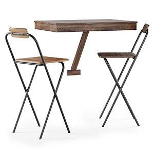 stools table 3D model