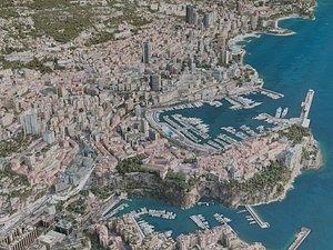 3D monaco city model