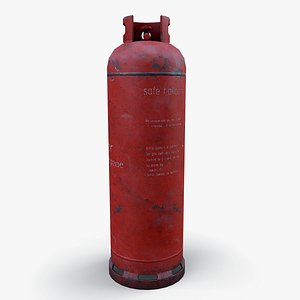 Gas cylinder long  LODs 3D model