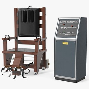3D Electric Chair with Control Panel model