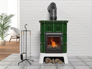 Treviso wood stove 3D model