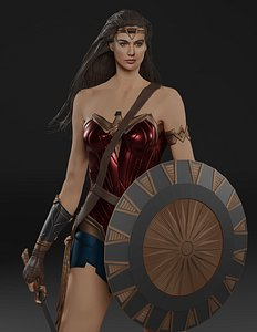 3D model woman wonder