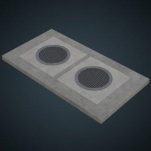 manhole 2a 3D model
