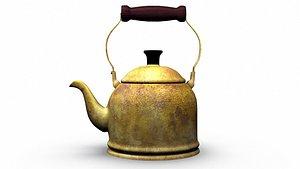 Antique Tea Pot Copper Kettle model
