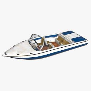 3D ski boat