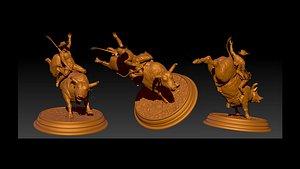 3D model animal bull