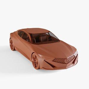 3D model acura concept
