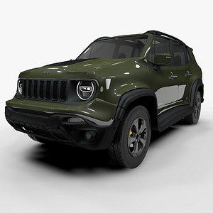 3D jeep renegade green trailhawk