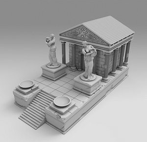 greek ancient temple 3D model