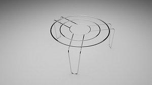 3D Metal Trivet model