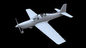 short tucano t1 aircraft 3D model