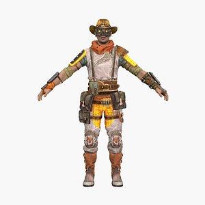 3D cowboy agitator model