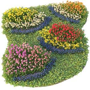 3D Flowerbed 5