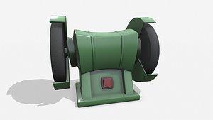 Cartoon Abrasive Stone Engine model
