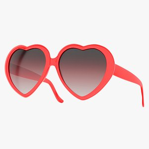 shaped sunglasses red shades 3D