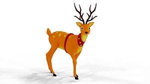 3D Rigged Cartoon Deer model