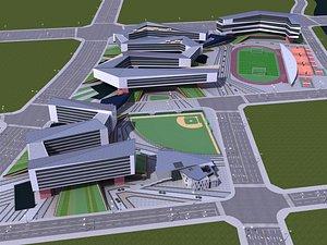 School 1 3D model