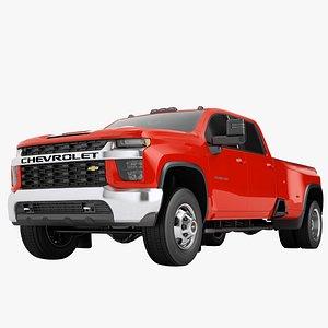3D Chevrolet Silverado 3500 HD 2021 01 model