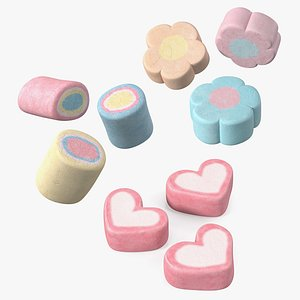 marshmallows shaped model