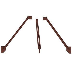 Industrial Platforms  Stairs 01 Set Arc 01 01 3D model
