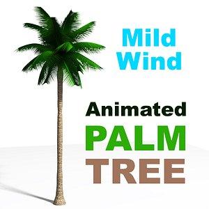 3D Palm Tree Animated