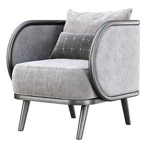 3D Carry velour dining chair CV12 model
