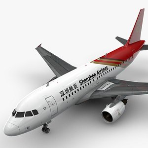 Airbus A319-100 SHENZHEN Airlines L1375 3D model